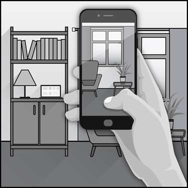 An illustration of a Virtual Home Energy Visit