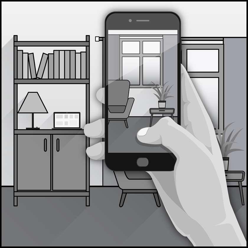 一个虚拟家庭能源访问的插图