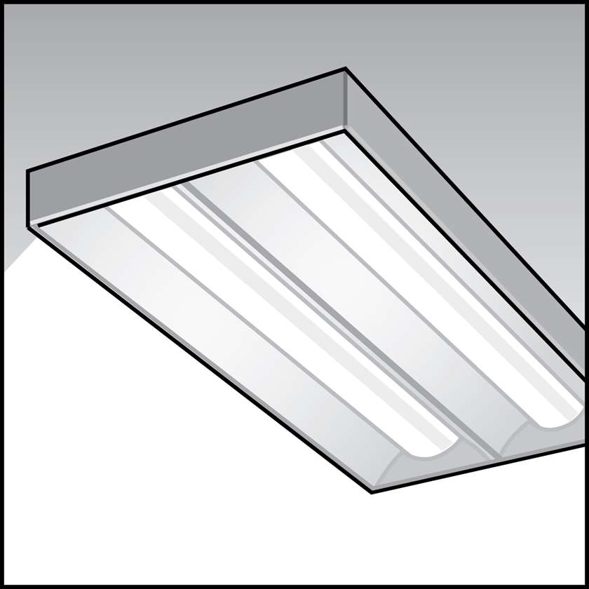 An illustration of a T5 High-Output Linear Fluorescent Fixtures for Agricultural Use