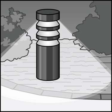 LED护柱装置的图示