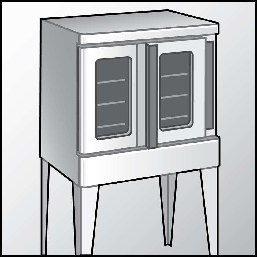 An illustration of a Rack Ovens