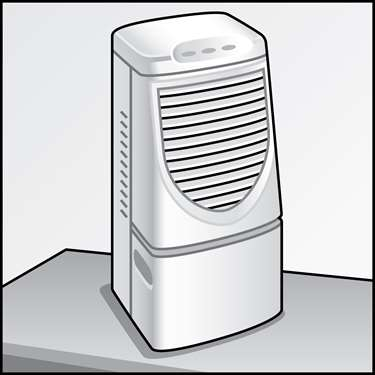 An illustration of a Dehumidifiers