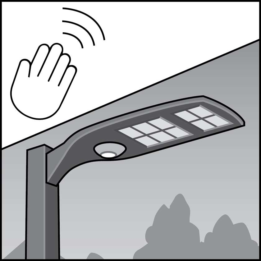 An illustration of a Exterior Occupancy Sensors