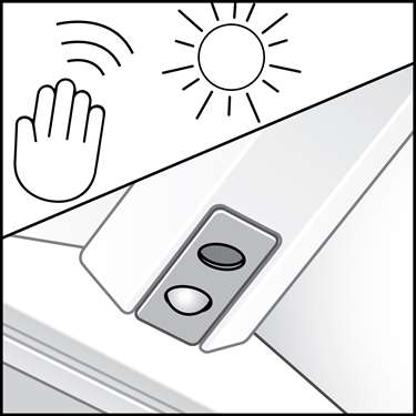 An illustration of a Dual Daylight & Occupancy Sensors
