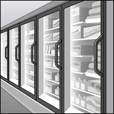 An illustration of a Refrigerator & Freezer Case LED Light Fixtures