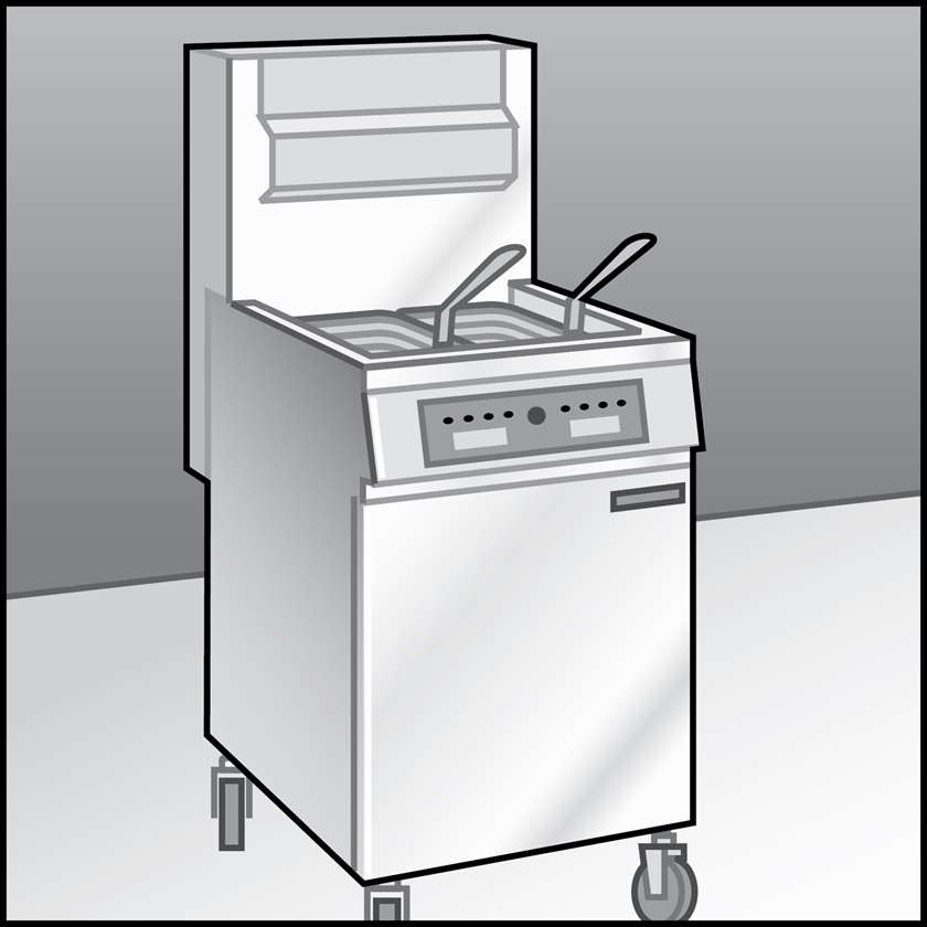 An illustration of a Fryers