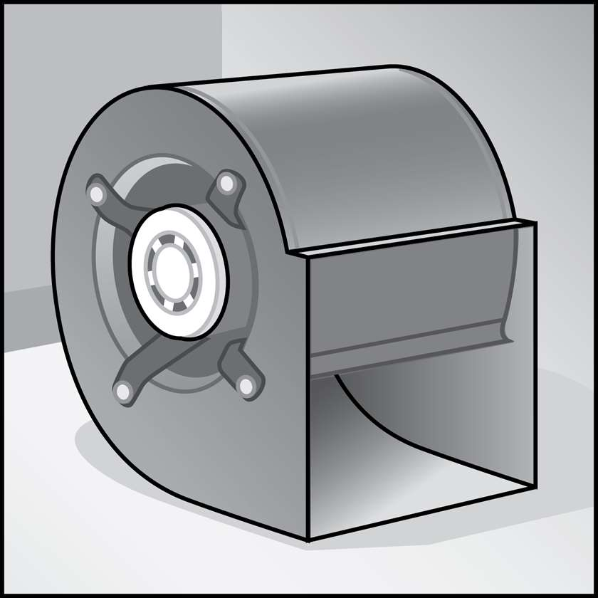 An illustration of a Furnace Fan Motors