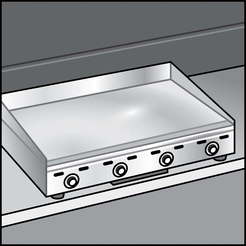 An illustration of a Griddles