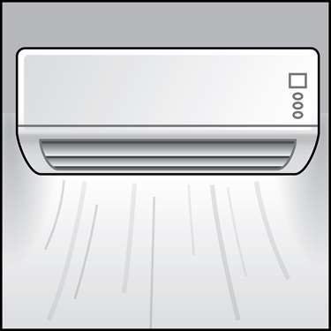 An illustration of a Ductless Heat Pumps