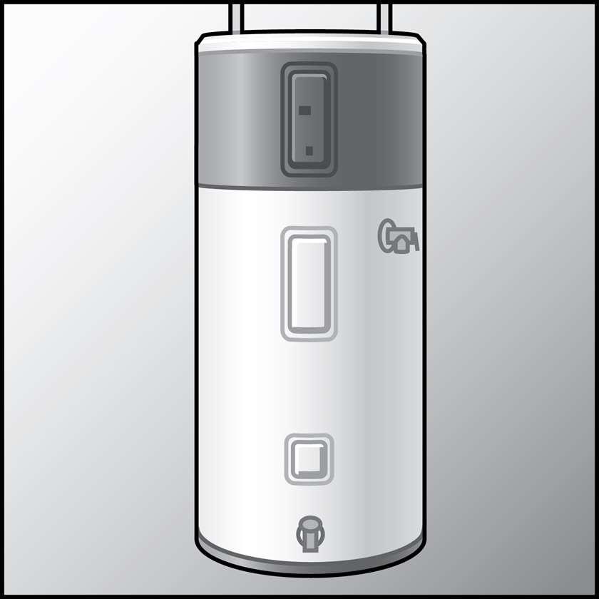 一个热泵热水器的插图