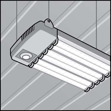 An illustration of a LED Low-Bay Fixtures