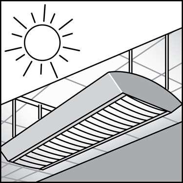 An illustration of a Switch & Fixture Mounted Daylight Sensors