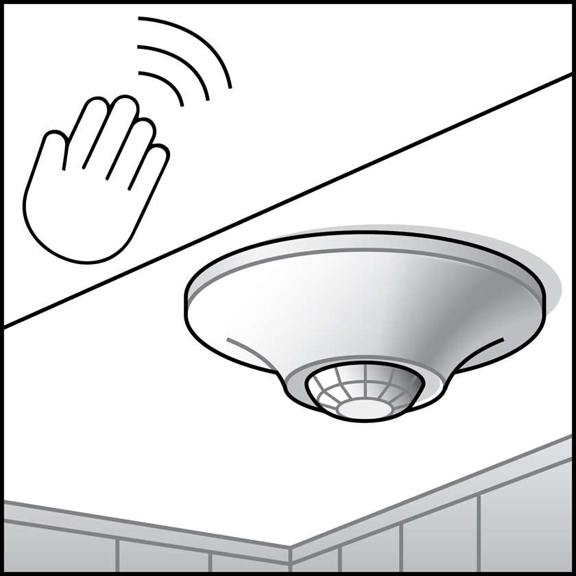 An illustration of a Sensors - Ceiling & Wall Remote Mounted