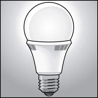 An illustration of a LED Light Bulbs