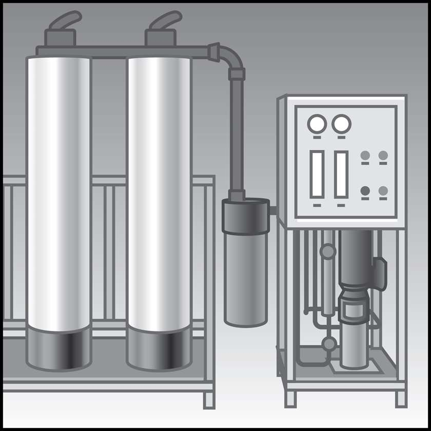 An illustration of a Maple Reverse Osmosis Systems (ROs)