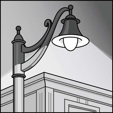 An illustration of a LED Outdoor Decor, Post-Top Fixtures & Retrofit Kits
