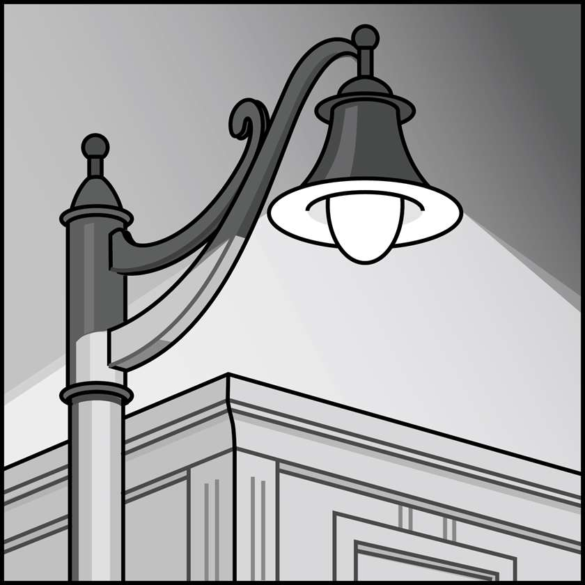 An illustration of a LED Outdoor Decorative & Post-Top Area Fixtures & Retrofit Kits
