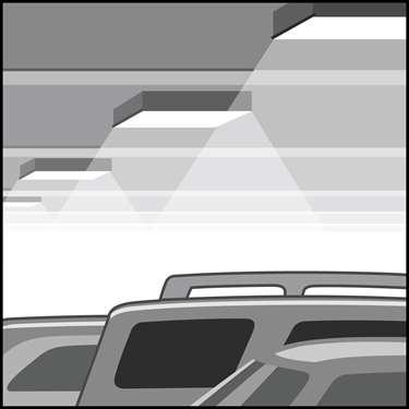 一个LED停车场和顶棚区域的装置和改装套件的插图
