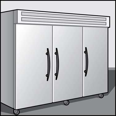 An illustration of a Reach-In Refrigerators & Freezers