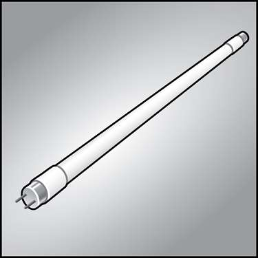 An illustration of a LED Replacement Lamps (2' & 4' Tubes)