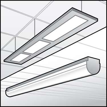LED表面和悬挂式线性固定装置的插图