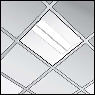 一个LED Troffer夹具的插图