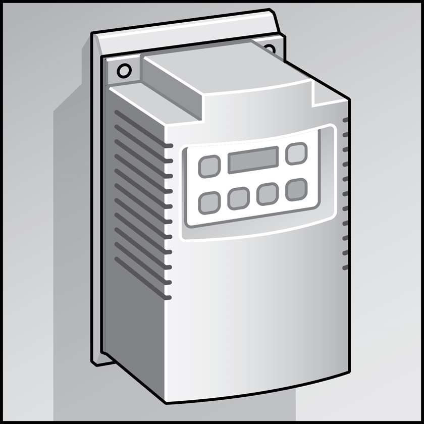 An illustration of a Variable Frequency Drives (VFDs) for HVAC Equipment