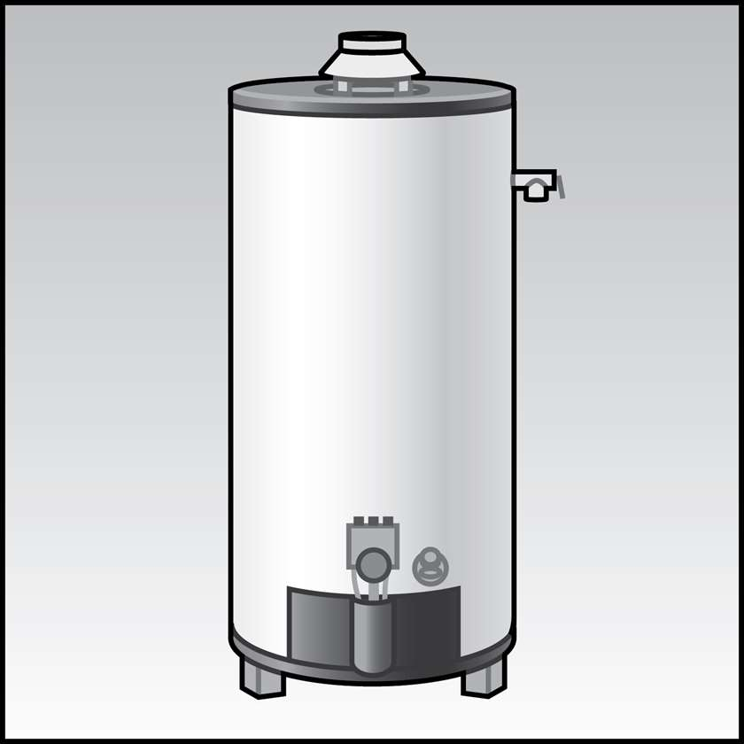 An illustration of a Solar Water Heaters